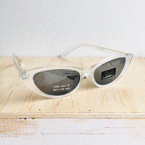 Kids clear cat eye sunglasses